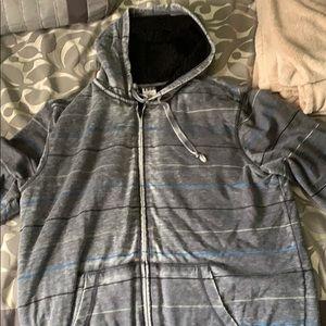 Striped zip up jacket